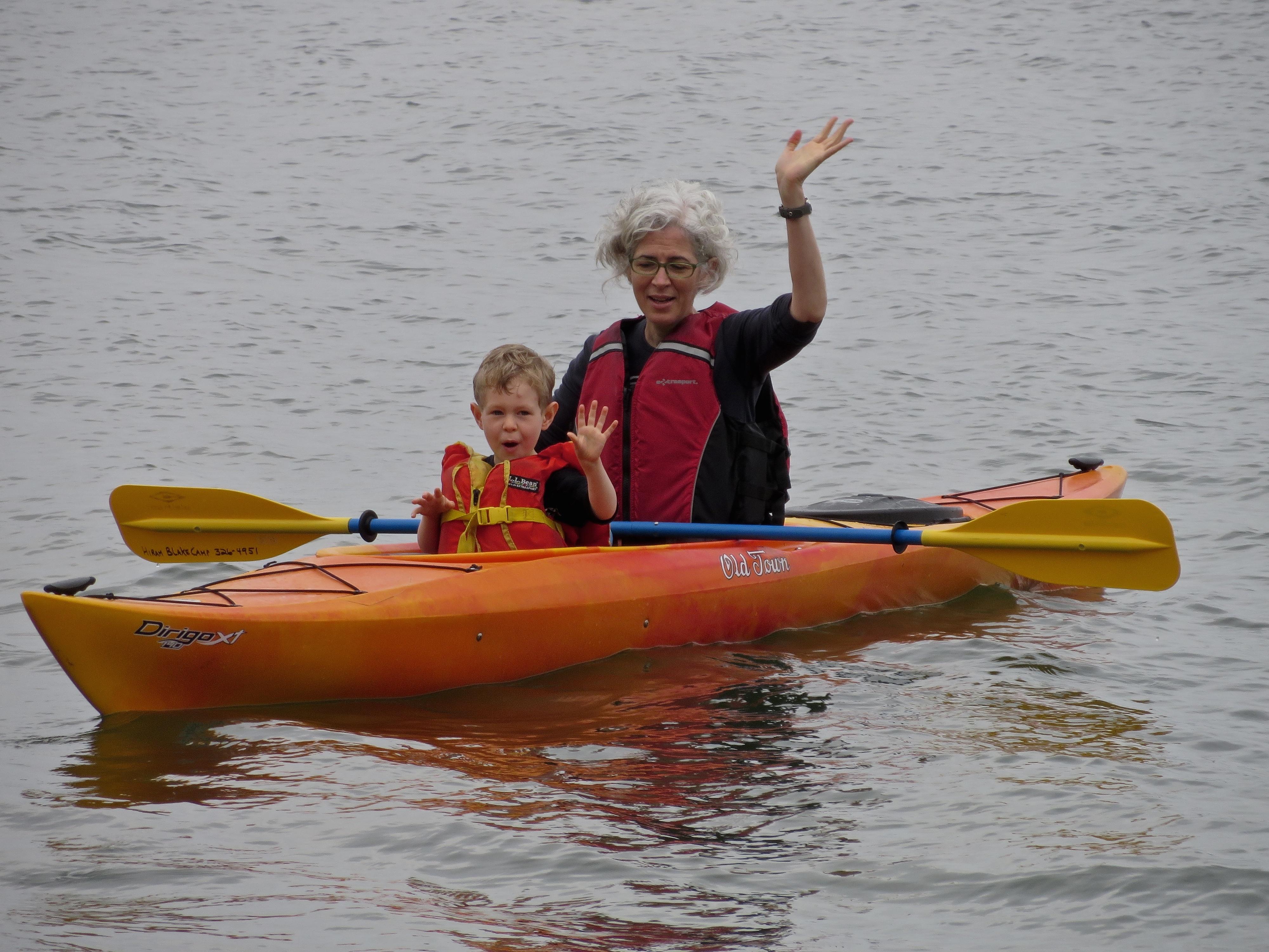 Hiram Blake Camp, Harborside, Maine | Kayakers